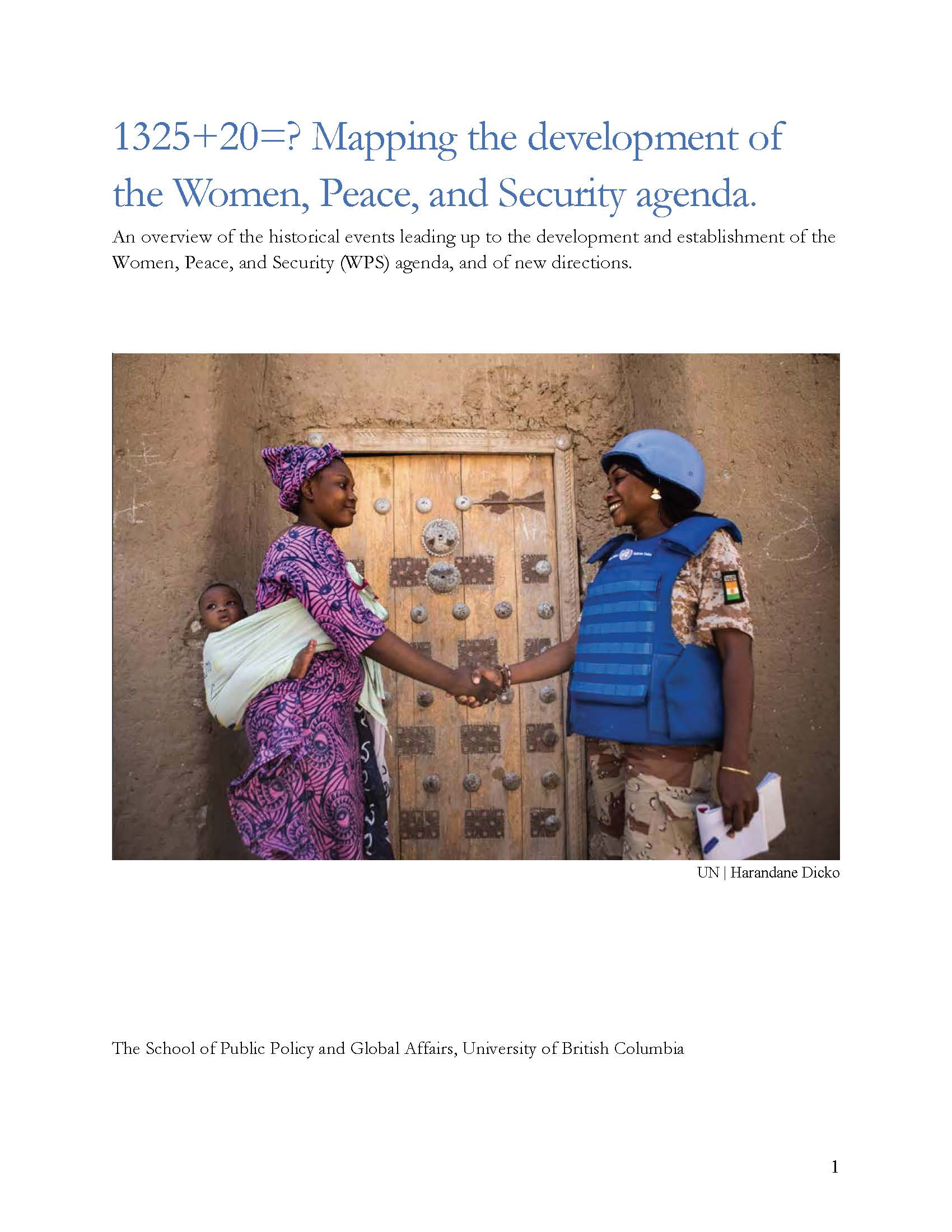 1325+20=? Mapping the development of the Women, Peace, and Security agenda